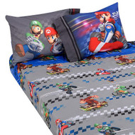 "Super Mario ""Full Speed"" Twin Sheet Set"