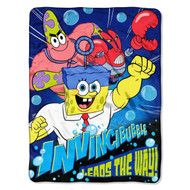 "Nickelodeon SpongeBob SquarePants ""Leads the Way!"" Plush Throw"