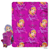 "Disney's Frozen ""Anna"" Character Pillow and Fleece Throw Set"