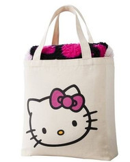 Hello Kitty Canvas Tote and Sherpa Throw Set