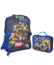 "Nickelodeon Teenage Mutant Ninja Turtles ""Stay Sharp"" Backpack with Lunchbox"