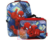 Marvel Spiderman Backpack with Detachable Lunchbag