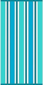 "Cabana Basic Blue Stripe Beach Towel by Simply Outdoors - 30"" by 60"" - 100% Cotton"
