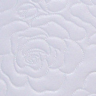 2 Inch Foam Oval Bassinet Mattress - Rose Pattern