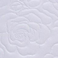 """2 Inch Foam Oval Bassinet Mattress - 16"""" x 32"""", Rose Pattern"""