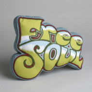 """Free Soul"" Graffiti Oblong Kids Decorative Pillow with Pouch"