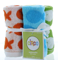 "Circo Sea Life 6pk Washcloths - 100% Cotton - 12""x12"" - Highly Absorbent"