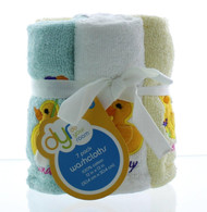 """Ducks 7pk Days of the Week Embroidered Washcloths set- 100% Cotton - 12""""x12"""" - Highly Absorbent"""