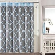 Studio 3B Jay Fret Shower Curtain, Grey/Blue