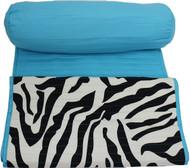 Zebra Beach Mat w/ Pillow