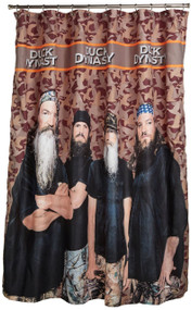 A&E Duck Dynasty Camo Shower Curtain, Orange Stripe