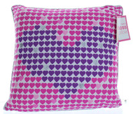 Hearts Printed Decorative Pillow