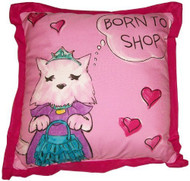 "Disney CeCe & Rocky ""Born To Shop"" Decorative Pillow"