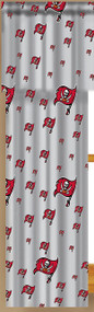 NFL Tampa Bay Buccaneers Window Curtain - Set of 2 with Tie Backs
