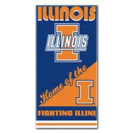 NCAA Illinois Illini Home Beach Towel, 30 x 60-Inch