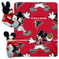 NFL Atlanta Falcons Mickey Mouse Pillow with Fleece Throw Blanket Set