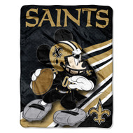 NFL New Orleans Saints Mickey Mouse Ultra Plush Micro Super Soft Raschel Throw Blanket