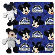MLB Colorado Rockies 40x50-Inch Throw with 14-Inch Hugger