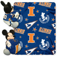 NCAA Illinois Illini 40x50-Inch Throw with 14-Inch Hugger
