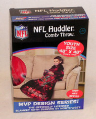 NFL Tampa Bay Buccaneers Youth Comfy Throw Blanket with Sleeves