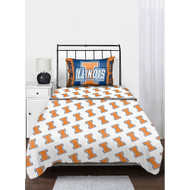 NCAA Illinois Twin Sheet Set