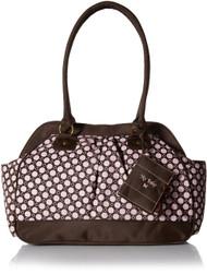 Baby Essentials Large Opening Satchel Diaper Bag, Pink