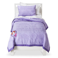 Disney Sofia the First Quilt Set - Purple (Twin)