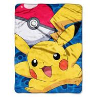 Pokémon Go Pikachu Micro Raschel Blanket, 46 by 60-Inch