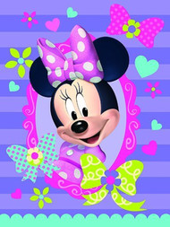 Disney's Minnie Mouse Bow-Tique Super Plush Throw