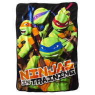 "Nickelodeon Teenage Mutant Ninja Turtles ""Turtles in Training"" Plush Throw Blanket"