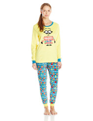 Despicable Me Women's Ladies Minky Tunic Set Minion, Yellow, Large