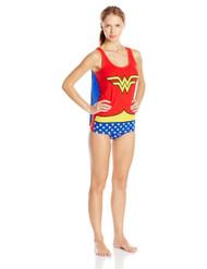 DC Comics Women's Ladies Tank and Panty Set Wonder Woman, Red, Small