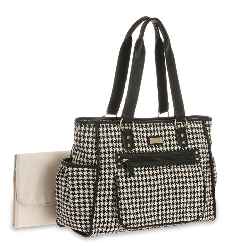 Black 6 Cube Kids Toy Games Storage Unit Girls Boys: Carters City Tote Black / Grey Houndstooth Tote