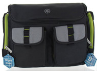 Jeep Sports Pockets Duffle Diaper Bag - Grey/Lime