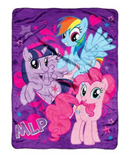 "My Little Pony Best Friends Micro Raschel Super Plush Throw 46"" x 60"""