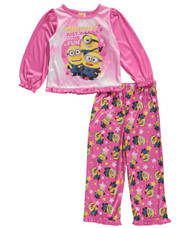 "Despicable Me Little Girls' Toddler ""Minion Fun"" 2-Piece Pajamas, 4T"