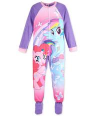 My Little Pony Girls One-Piece Footed Pajamas - Blanket Sleeper, Size 4