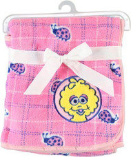 Sesame Street Beginnings Big Bird Fleece Blanket, Pink