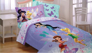 Disney Fairies Sparkling Butterflies 4pc Full Bed Sheets Set