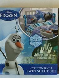 Disney Frozen Olaf Expert on Snow Twin Sheet Set