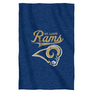NFL St. Louis Rams Script Sweatshirt Throw, 54-Inch by 84-Inch