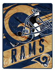 NFL St. Louis Rams Micro Raschel Front & Sherpa Backing Foot Pocket Throw