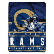 NFL St. Louis Rams Stacked Silk Touch Blanket, 60-Inch by 80-Inch