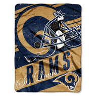 "NFL St. Louis Rams ""Deep Slant"" Micro-Raschel Throw, Blue, 46 x 60-Inch"
