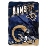 NFL St. Louis Rams Plush Raschel Blanket, 60 x 90-Inch