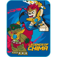 "LEGO Legends of Chima 46"" x 60"" Plush Throw Blanket Bedding"
