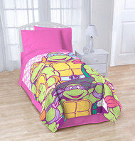 "Nickelodeon Teenage Mutant Ninja Turtles ""I Love TMNT"" Blanket for Girls"