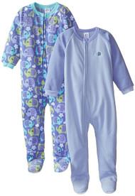 Gerber Little Girls' 2 Pack Blanket Sleepers, Elephant, 4T