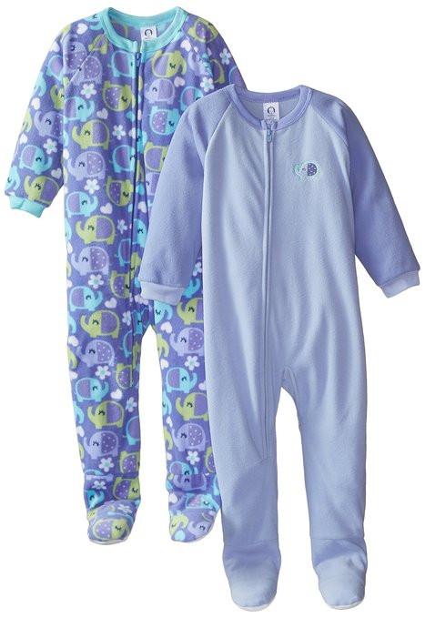 194b3df5e8 ... Gerber Little Girls  2 Pack Blanket Sleepers