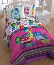 "Disney Inside Out ""Dream"" Reversible Twin Comforter"